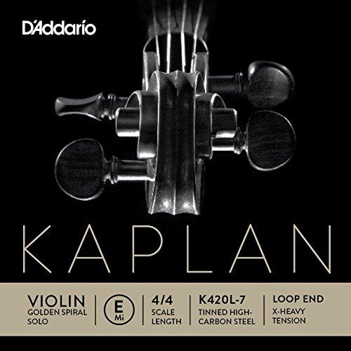 D'Addario Kaplan Violinen-Einzelsaite (E) mit Schlaufenende, 4/4, extrastraffe Spannung (Violin-saiten Tonica 4 4)