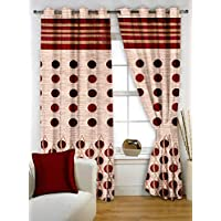 Story at Home 350 GSM Polyester 1 Pieces Window Curtain, Maroon, 118 cm x 152 cm