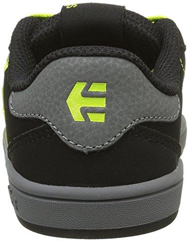 Etnies Kids Fader Ls, Scarpe da Skateboard Bambino Noir (Black Grey 570)