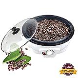 Haushalt Kaffeeröster Kaffeebohnen Bratmaschine, Elektrische Kaffeebohnen Erdnuss Kastanien Trockenfrüchte Popcorn Bratbacken Multifunktionsmaschine für Café Shop Haus