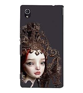 Crying Girl Design 3D Hard Polycarbonate Designer Back Case Cover for Sony Xperia M4 Aqua :: Sony Xperia M4 Aqua Dual