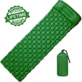 AGM Unisex's Self Inflating Camping Mat, Sleeping Pad with Pillow Ultralight Compact Waterproof