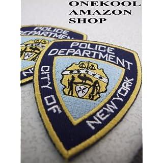 2 große NYPD- Aufbügler Aufnäher/Flicken an Fasching
