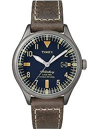 a19b34a4816d Timex Reloj Analogico para Mujer de Cuarzo con Correa en Cuero TW2P84400