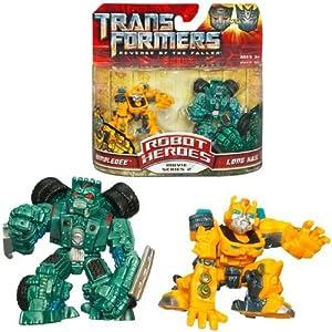 Hasbro Transformers MV2 Robot Heroes - Juego de Figuras (Bumblebee y Long Haul)