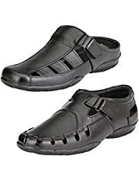 87a8beaef112 Leather Zone Limited Edition Pure Leather Sandals (Combo of 2 at Rs 999)