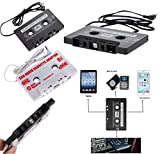Universal Aux Kassetten Adapter für Musik Audio Radio Stereo Audiokabel 3,5mm Klinke MP3 MP4 Smartphone Tablet DAT-Player, MiniDisc-Player, CD- MP3 Kassette Kassettenadapter (Weiß)