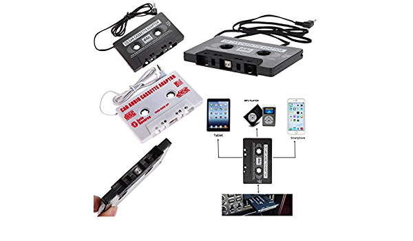 Universal Aux Kassetten Adapter Für Musik Audio Radio Stereo Audiokabel 3 5mm Klinke Mp3 Mp4 Smartphone Tablet Dat Player Minidisc Player Cd Mp3 Kassette Kassettenadapter Weiß Garten