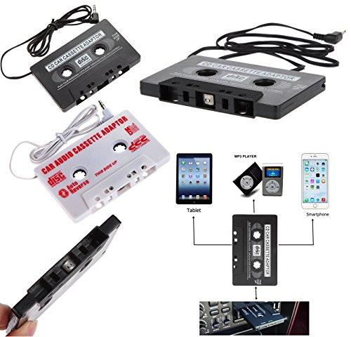 Universal Adattatore cassette AUX per musica Audio Radio Stereo cavo Audio 3,5mm Jack MP3MP4Smartphone Tablet DAT lettore, lettore MiniDisc, CD MP3Laser Laser Adapter