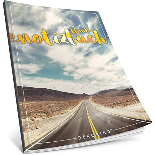 Dékokind® Blanko Notizbuch: Ca. A4-Format • 100 Seiten mit Inhaltsverzeichnis • Perfekt als Zeichenbuch, Sketchbook oder Malbuch für Erwachsene • ArtNr. 50 Unendlichkeit • Softcover
