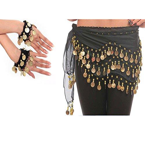 Schwarz, 1 Paar/Fußband, Armbänder, Super-Kostüm für Festivals Leistung oder in der Praxis (Die Besten Halloween-kostüme Uk)
