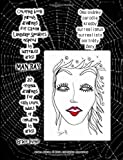 Coloring book parody drawings for Czech Language Speakers inspired by surrealist artist   Man Ray 20  original drawings for easy level adult  or  children by artist Grace Divine