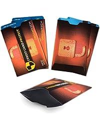 Fundas de bloqueo DreamTech RFID con diseño único. 5 piezas. Antirrobo premium para tarjetas de crédito/débito. Seguridad con protección NFC