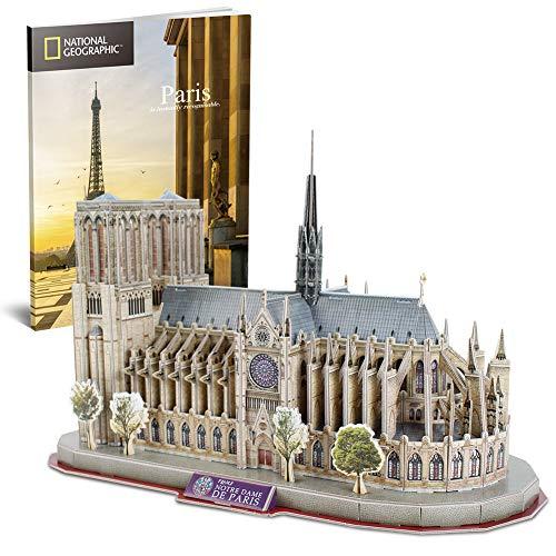 CubicFun Notre Dame de Paris National Geographic 3D Puzzle Spielzeug Architektur Kits mit Traveller Booklet
