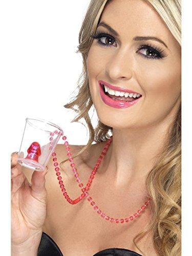 Night Willy Schnapsglas auf Halskette, rosa (Shot Glass Kostüm)