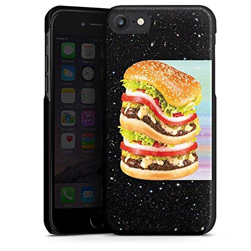 Apple iPhone X Silikon Hülle Case Schutzhülle Burger Fleisch Fast Food Hard Case schwarz