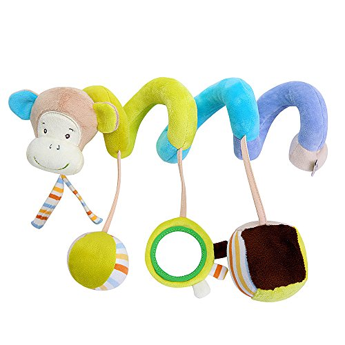 SLHP Kinderwagen Spielzeug Baby Autositz Plüschtiere Kleinkindspielzeug hängenden Activity Spirale Baby Rasseln - Und Baby-affe-autositz Kinderwagen