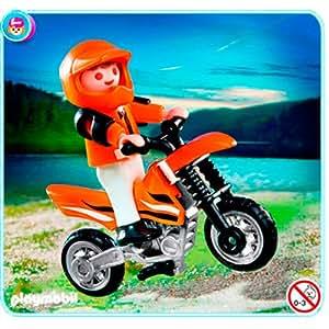 Playmobil - 4698 - Jeu de construction - Enfant et motocross