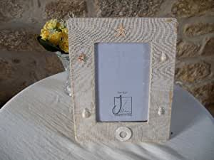 J-line - Cadre - Cadre photo en textile et coquillages