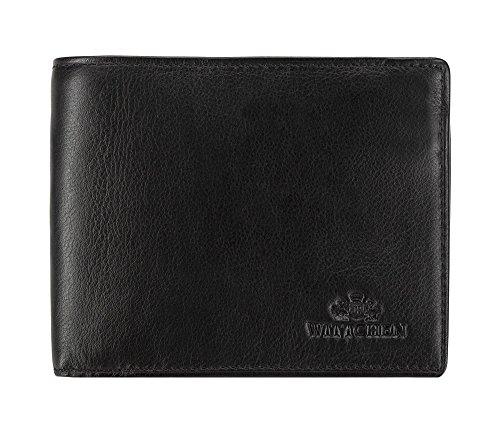 Geld Lange Brieftasche (Wittchen Brieftasche | Farbe: Schwarz | Narbenleder | Größe: 10 x 12,5 | Sammlung: Tenero | 02-1-040-1)