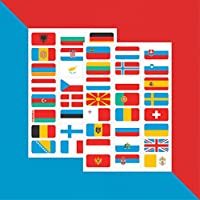 Flags of Europe – Stickers x 48 // Teacher Stickers