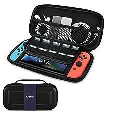 Custodia Nintendo Switch - TUXWANG EVA Shell Custodia portatile con pieghe flaps elastiche e spazi più ampi per le cartucce di gioco e altri accessori per switch Nintendo