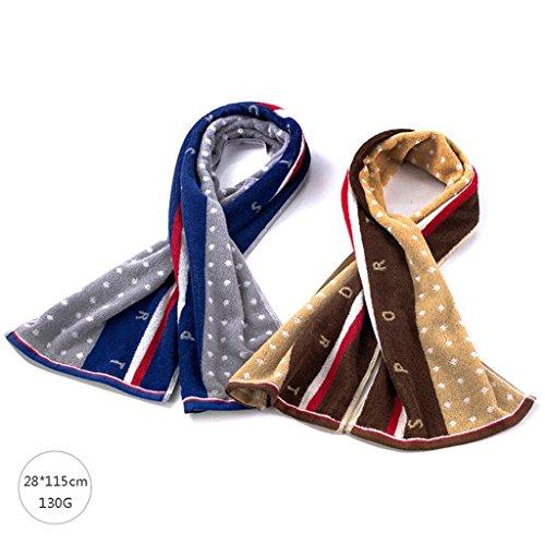 ZLR Solide Baumwolle verlängern Handtuch verdicken Badetuch Sport Handtuch weichen saugfähigen Handtuch (Handtücher * 2) ( Farbe : H ) (Baumwolle Solide Verdicken)