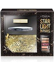 L'Oréal Paris, Wimperntusche, Lidschatten-Palette Le Petite Palette Nudist, Lippenstift Color Riche 226, Pochette 3-teiliges Geschenkset