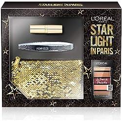 L'Oréal Paris Makeup Pochette cadeau star light en Paris, Mascara Faux Cils Papillon, Petite Palette Fard Nudist et rouge à lèvres–Color Riche Satin 226, Pochette 3pièces