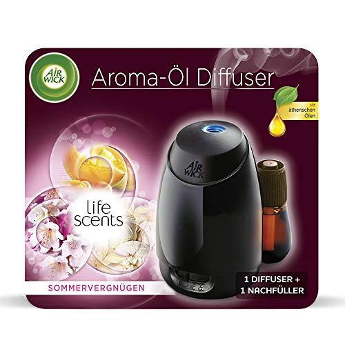 Air Wick Aroma Diffuser Starter Set, Aroma Öl-Diffuser inklusive Duftflakon Sommervergnügen mit ätherischen Ölen (1 x 20ml)
