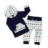 PanDaDa 2 PCs Säugling Baby Jungen Mädchen Kleidung Outfits Punkte Lattice Langarm Tops + Hosen Anzüge