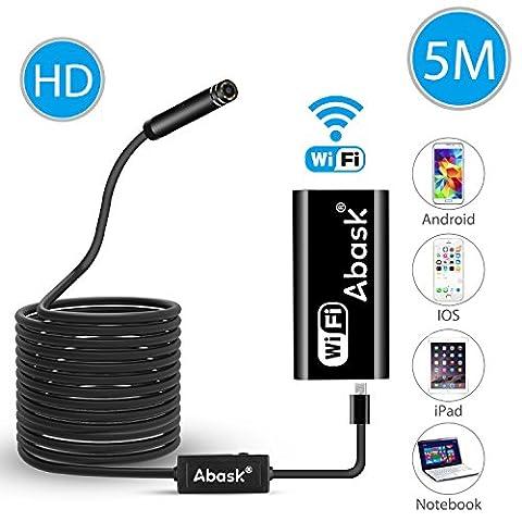 WiFi Endoscope, Abask 5M USB Endoscope Caméra d'inspection 2.0 mégapixels
