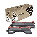 ZOOMTEC 2 Pack Compatible pour Brother TN2220 Cartouche de Toner Noir pour Brother DCP-7057 DCP-7060D DCP-7065DN DCP-7070DW HL-2220 HL-2240 HL-2240D HL-2242D HL-2250DN HL-2270DW HL-2280DW