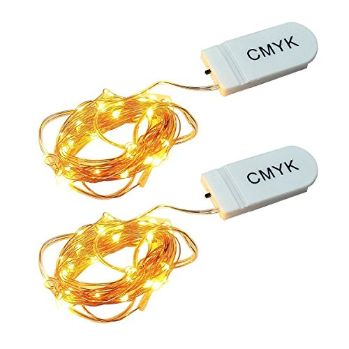 CMYK 2x 9.8ft/3M stringa fata luce 30 LED String luce per la decorazione casa matrimonio Natale partito Rame filo della lampada