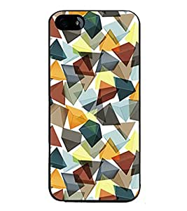 Fuson Premium 2D Back Case Cover Pyramid Crystal Pattern With yellow Background Degined For Apple iPhone 5::Apple iPhone 5S