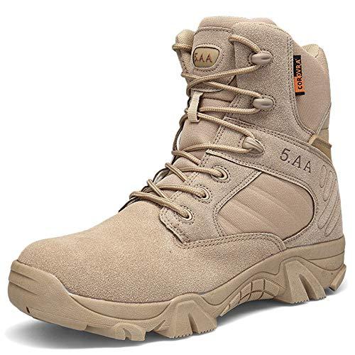 Lacets Bottes De Combat Militaires Randonnée Bottes d'escalade De L'armée Hommes Hauts Hauts Bottes Bottes Désert Chaussures De Trekking De Combat pour Chaussures D'entraînement Swat