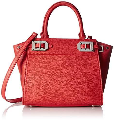 Nine West Gleam Team Mini Satchel Bag, Bright Poppy, One Size (Nine West Mini)