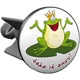 Plopp Waschbeckenstöpsel Froschkönig take it easy!, Stöpsel, Excenter Stopfen, für Waschbecken, Waschtisch, Abfluss