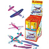 Flying Gliders 20cm Party Bag Fillers, Childrens Games & Prizes (Pack of 6)