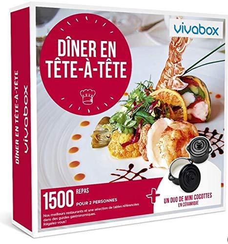 Vivabox- Coffret cadeau couple - DINER EN TETE A TETE - 1500 repas gastronomiques + 1...