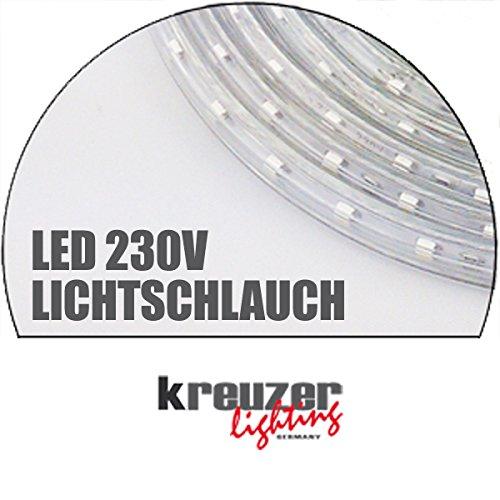 LED Lichtschlauch, Lichterkette 230V 3528 4,8W/m rot 25m