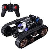 IndusBay Battle Stunt Car, Space Rover Super Power With 360° Flip Light Music Remote Control Battle Army Tank Toy For Kids Black