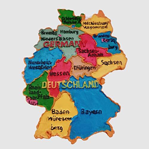 Deutschland Karte Stil Deutschland 3D Kühlschrank Magnet Home & Küche Deko Magnet Aufkleber Deutschland Karte Stil Deutschland Kühlschrank Magnet Tourist Souvenir Geschenk - Magnet Deutschland Kühlschrank