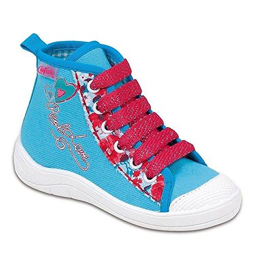 GALLUX - Mädchenschuhe Hausschuhe Mädchen Schuhe coole Sneaker Blau/Rot