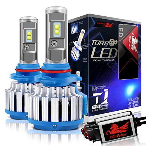 WinPower H7 LED Lampadine per fari Tutto in uno Kit di conversione 70 Watt 7200 Lumen 6000K Bianco freddo , 2 Pezzi