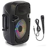 Ibiza Light & Sound 7LED Mobile de fête party Box avec Bluetooth/MP3et microphone