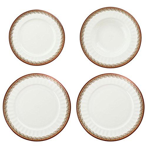 doubleblue-4-pezzi-set-piatti-da-cena-in-porcellana-bone-china-retro-microonde-per-party-feste-e-ban