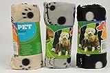 3er Pack Haustierdecke 80x120cm Haustier Decken 3 farbig sortiert für Hunde und...