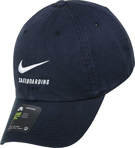 Nike U nK H86Cap SB Twill Casquette de tennis, Homme Taille unique Noir (Black/Black/White)