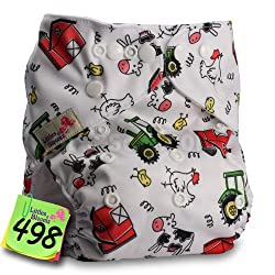 Generic Baby Washable Reusable Real Cloth Pocket Nappy Diaper Cover Wrap, suits Birth to Potty One Size Nappy Diaper Cover